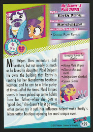 My Little Pony Mr. Stripes & Plaid Stripes Series 4 Trading Card