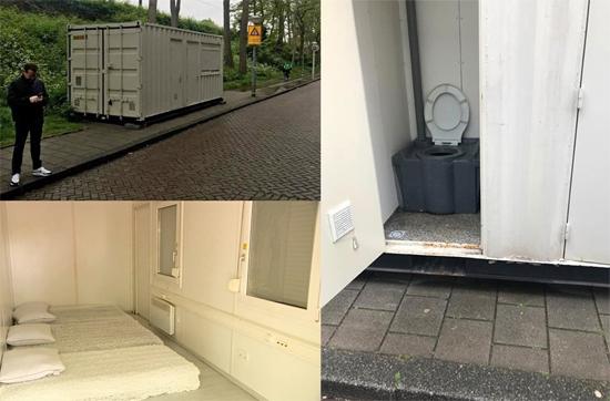 Quarto de Hotel Conteiner Holanda