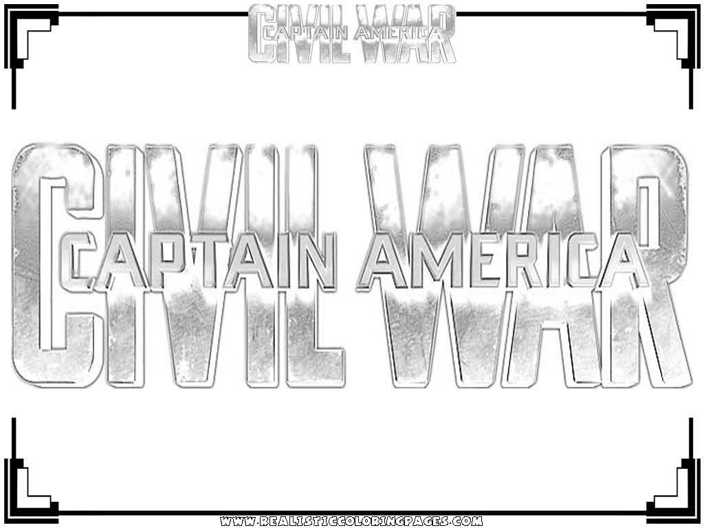 Captain America Civil War Printable Coloring Pages