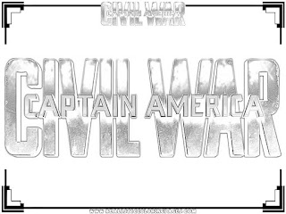 captain america civil war logo coloring pages