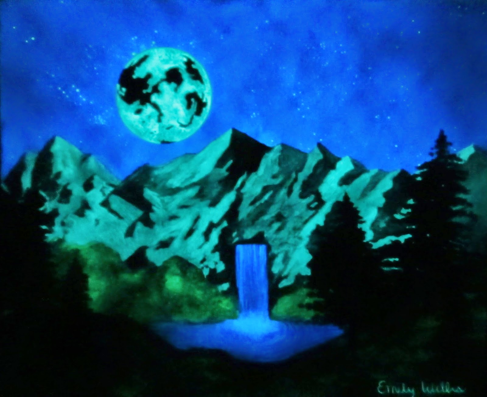 Landscape Glow in the Dark Painting