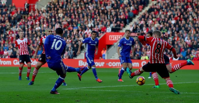 Video: Hazard's Amazing Goal vS Southampton Is Similar To Former Chelsea's Player Gianfranco Zola vS Man United
