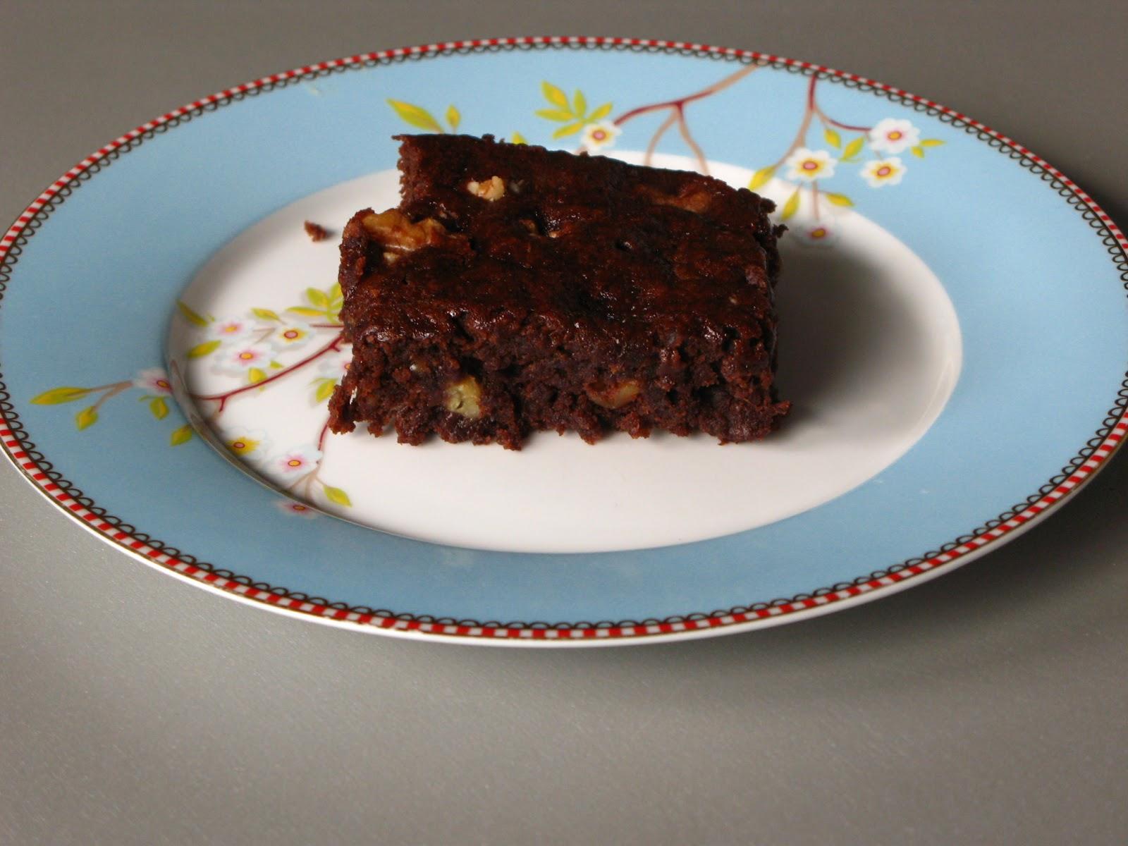 Gourmandises Vegetariennes Vegane Bananen Walnuss Brownies