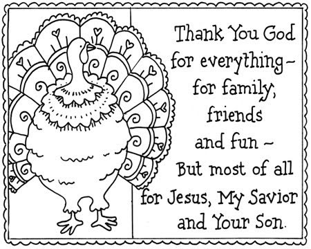 Thanksgiving Coloring Pages: Religious Thanksgiving