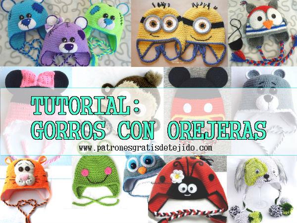 Clase gratis de crochet: como tejer gorros con orejeras para niños
