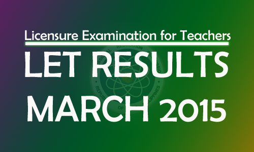 LET Results 2015 March