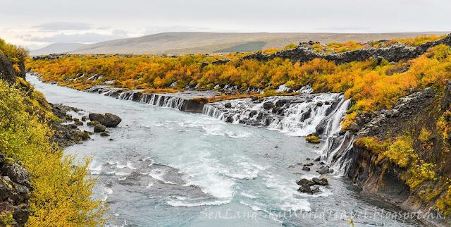 iceland, 冰島, Hraunfossar 瀑布