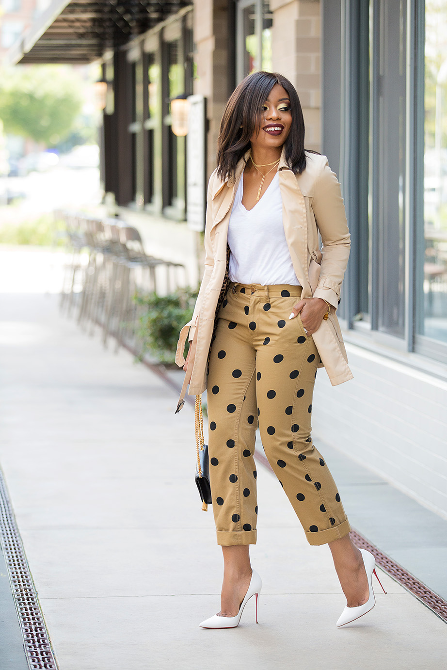 polka dot boyfriend chino, www.jadore-fashion.com