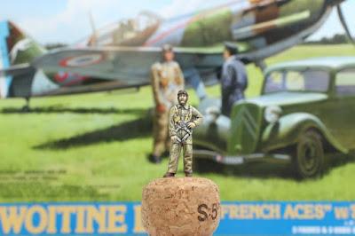 Figurine de pilote français 1940 Tamiya au 1/48