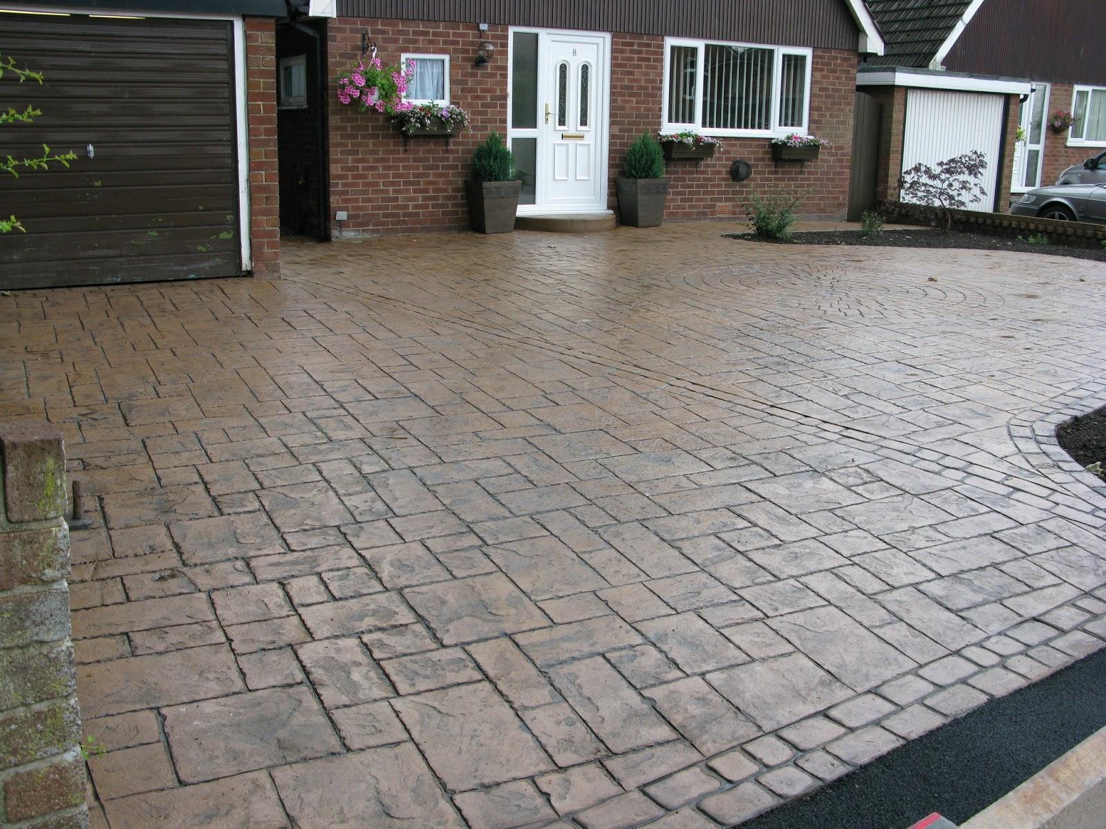 Cobblestone Stamped Concrete Driveway   Home design ideas