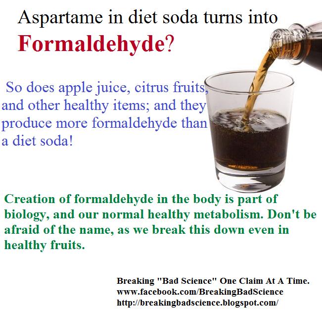 "Breaking ""Bad Science"": Aspartame in Diet Soda turns into ..."