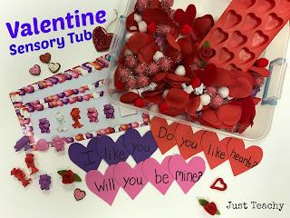 Valentine Sensory Tub