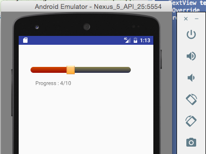 Android Custom SeekBar example - Java2Blog