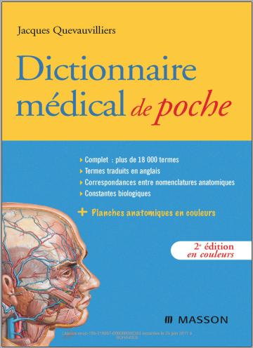 Livre : Dictionnaire médical de poche - Jacques Quevauvillers PDF