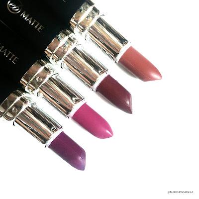 Ever Bilena Vogue Diva, Posh Plum, Sexy Nude Vivid Violet Lipstick
