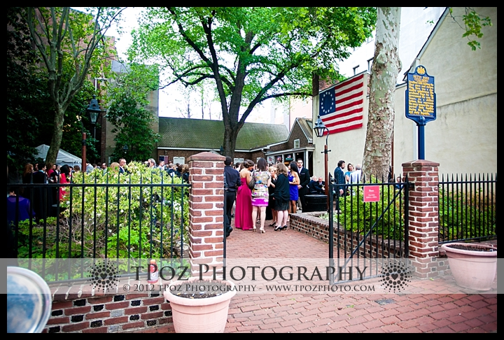 Betsy Ross House Philadelphia Wedding Cocktail Hour