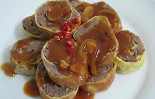 menu sahur istimewa Rolade Daging Sapi