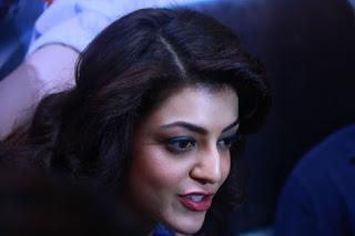 Kajal Agarwal Stills In Blue Top At ITC Fashion Show