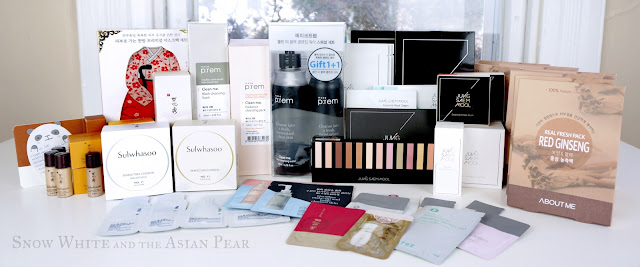 Korean beauty products purchased with a buying service