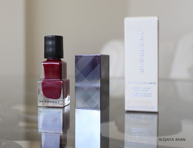 BURBERRY Nail Polish in Oxblood No. 303 Review and Swatch