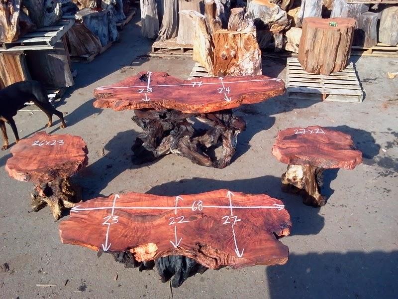 Redwood Burl Slab Coffee Tables