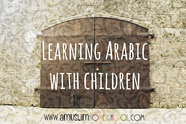 Learning Arabic with kids. includes a list of online free arabic learning resources
