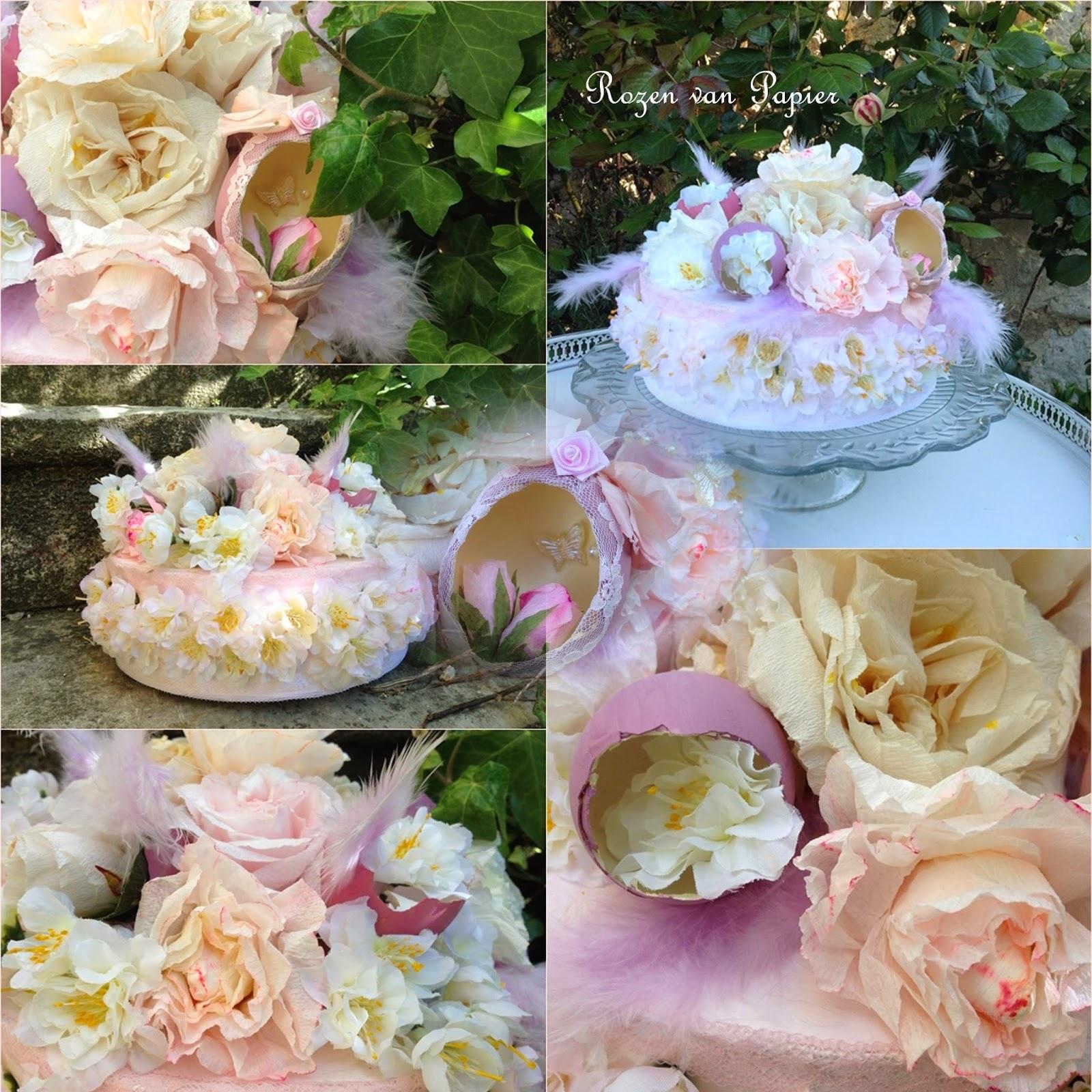 roses pour toujours g teau avec des fleurs pour p ques. Black Bedroom Furniture Sets. Home Design Ideas