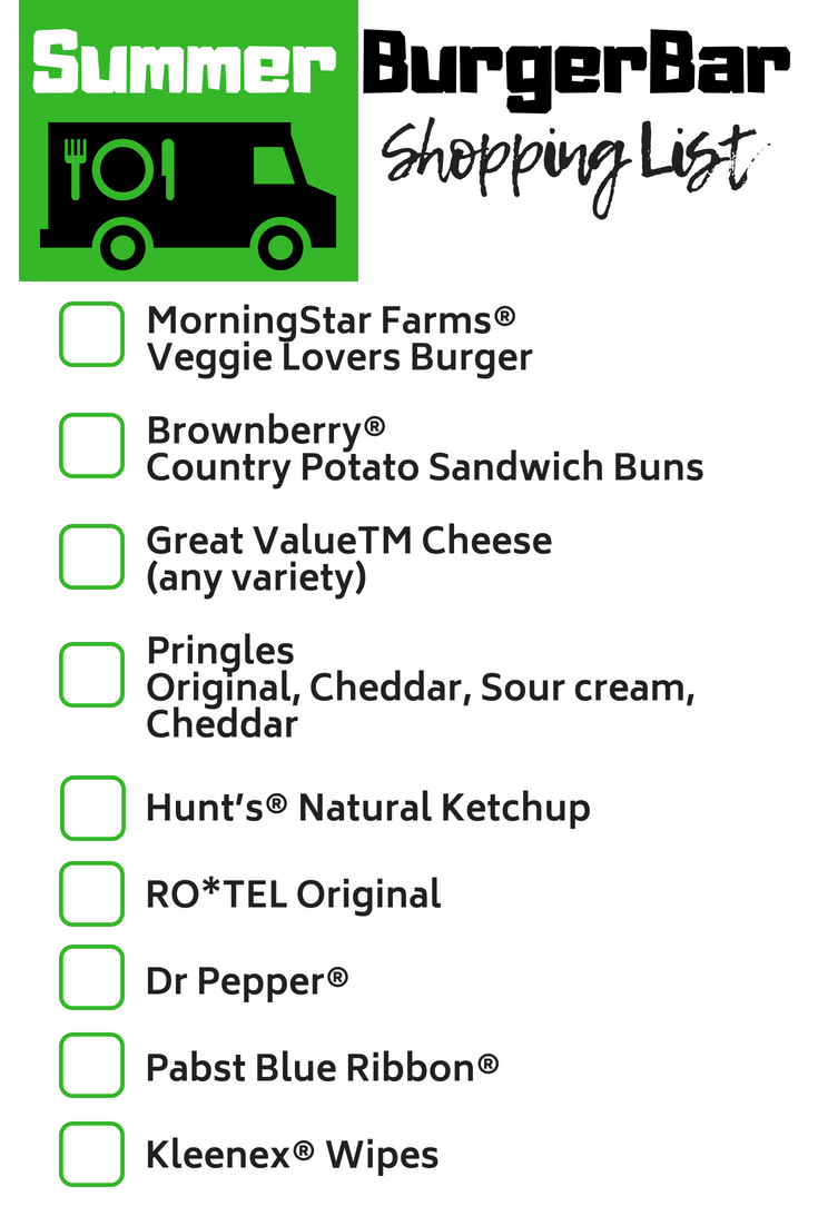 Bring the MorningStar #BurgerBar Shopping List