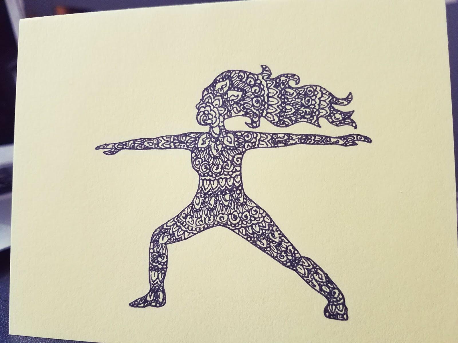 Debbie Dots Greeting Card Blog Yoga Doodle Birthday