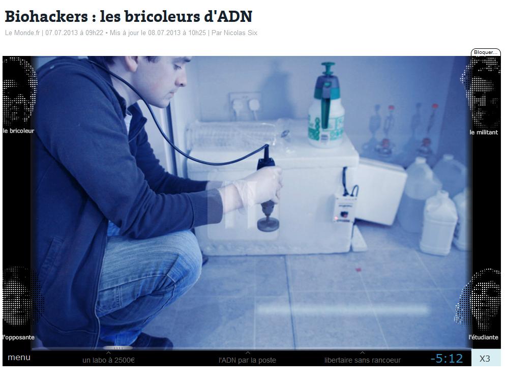 Genomic Entertainment: Biohackers : les bricoleurs d'ADN - Les Bricoleurs