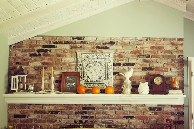 fall decor, fall mantel, mantle, autumn, fall decorating ideas