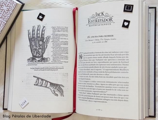 trecho, diagramaçao, livro, Rastro-de-sangue-Jack-o-estripador, Kerri-Maniscalco, darkside