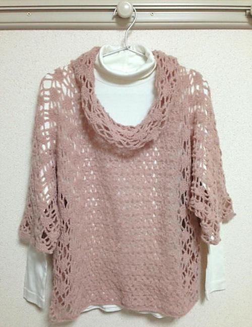 Silk Rosa Cowl Sweater - Free Pattern