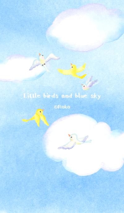 Little birds and blue sky