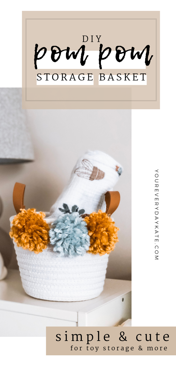 DIY Pom Pom Basket Pin
