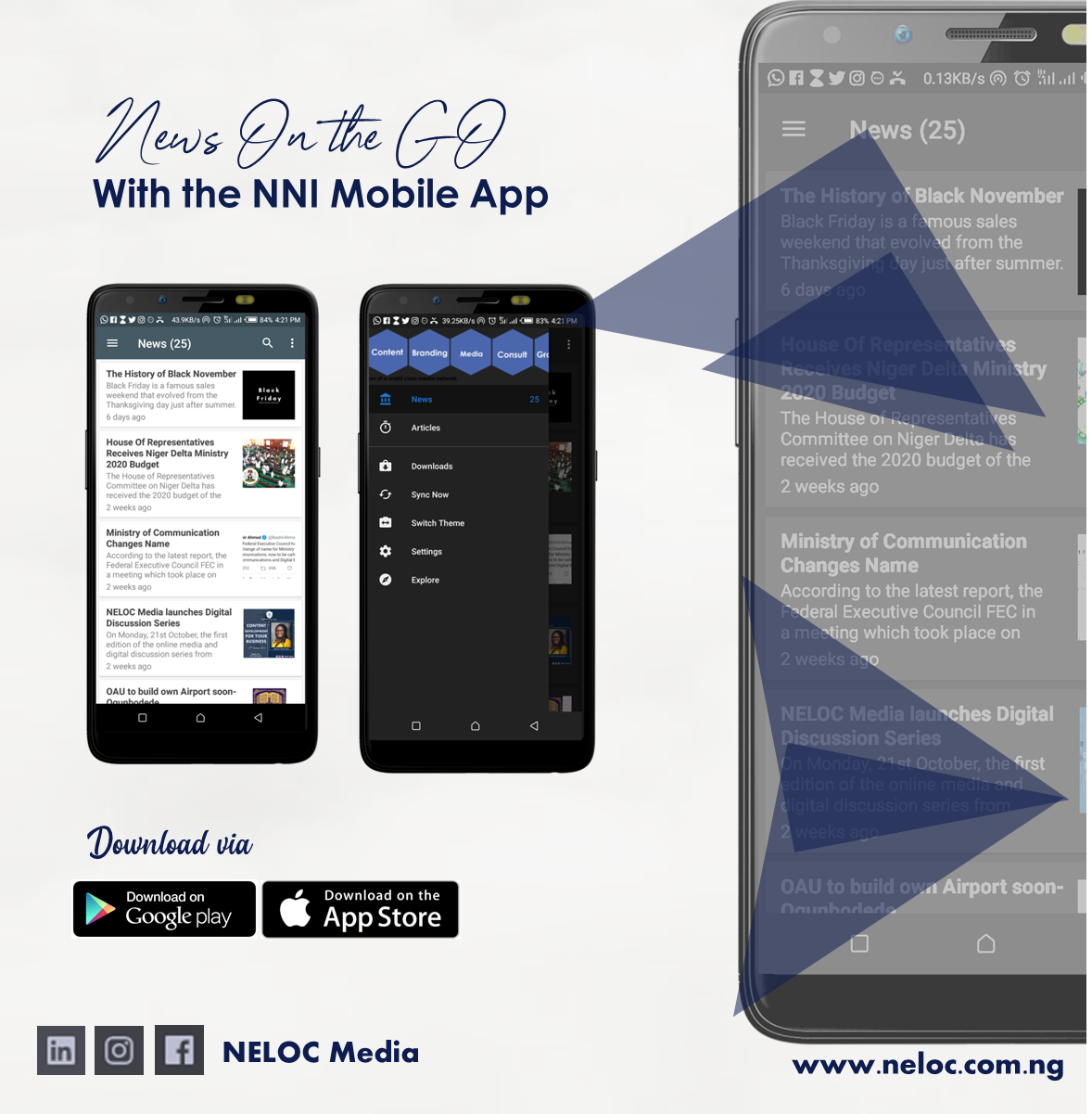 Download the NELOC News International Mobile App