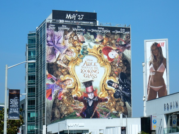 Giant Disney Alice Through the Looking Glass movie billboard