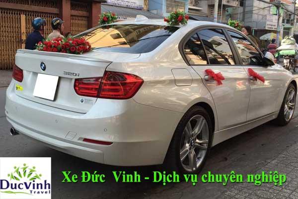 Cho thuê xe cưới màu trắng BMW 320i