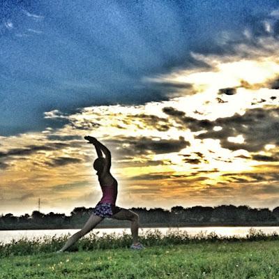 Warrior 1 at sunrise