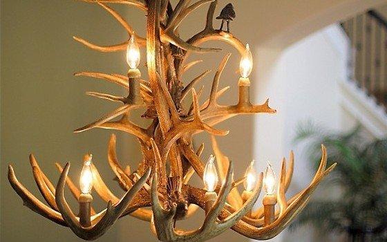 Rustic Antler Chandelier Design
