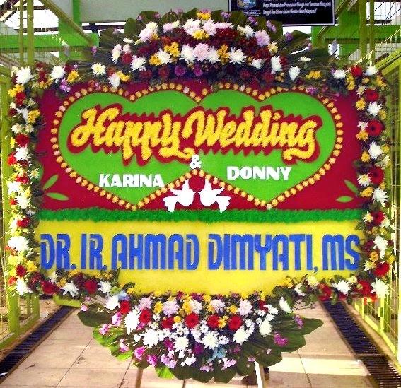 Bunga Papan Pernikahan Ke Wedding House Bandung