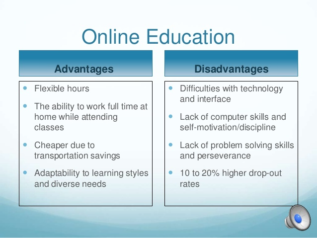 Disadvantages Of Online Education