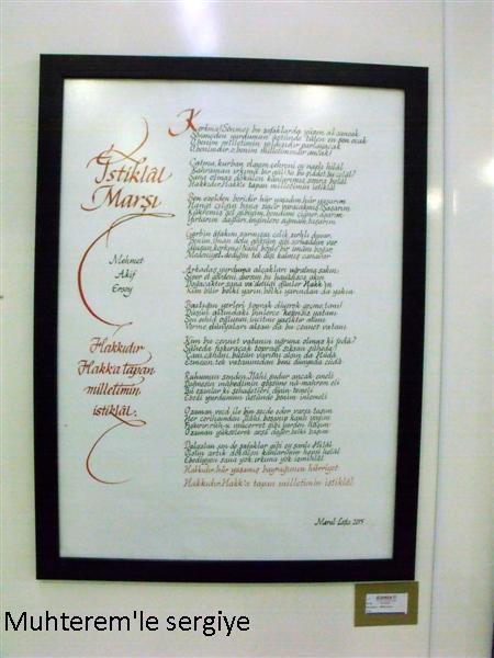 Kaligrafi istiklal marşı