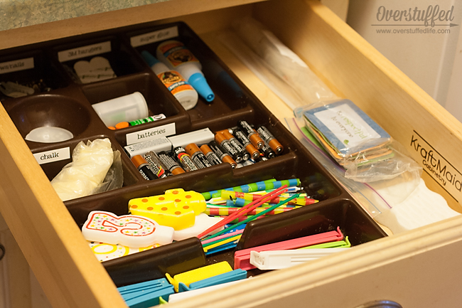 This junk drawer was a mess just 15 minutes ago! Decluttering doesn't have to take a ton of time!