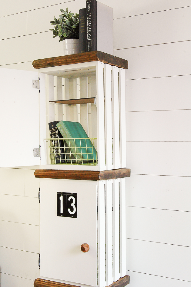 DIY crate lockers