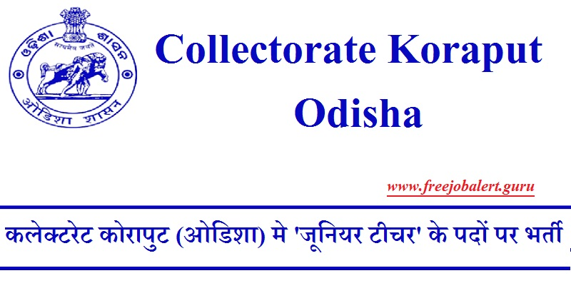 Collectorate Koraput Recruitment 2018
