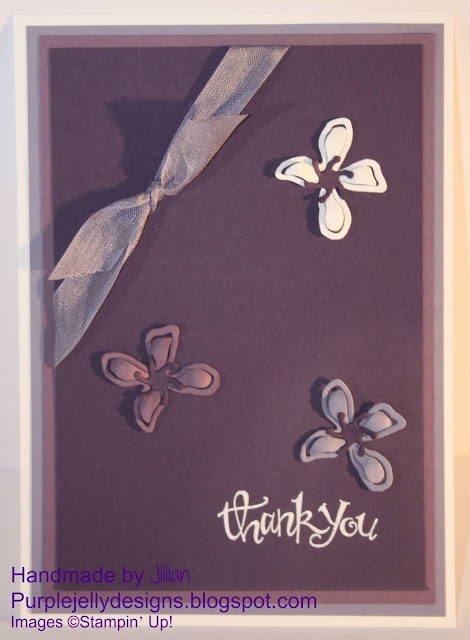Stampin' Up! Botanical Builder dies elegant eggplant perfect plum wisteria wonder