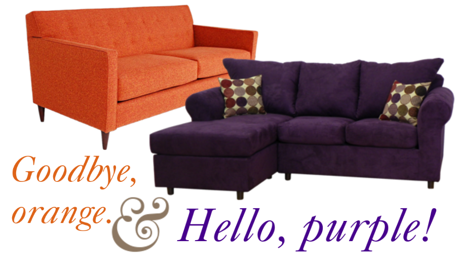 Wayfair Sofa Review: Out With The Orange Couch, In With The Purple Andover  Mills Dewitt Sectional