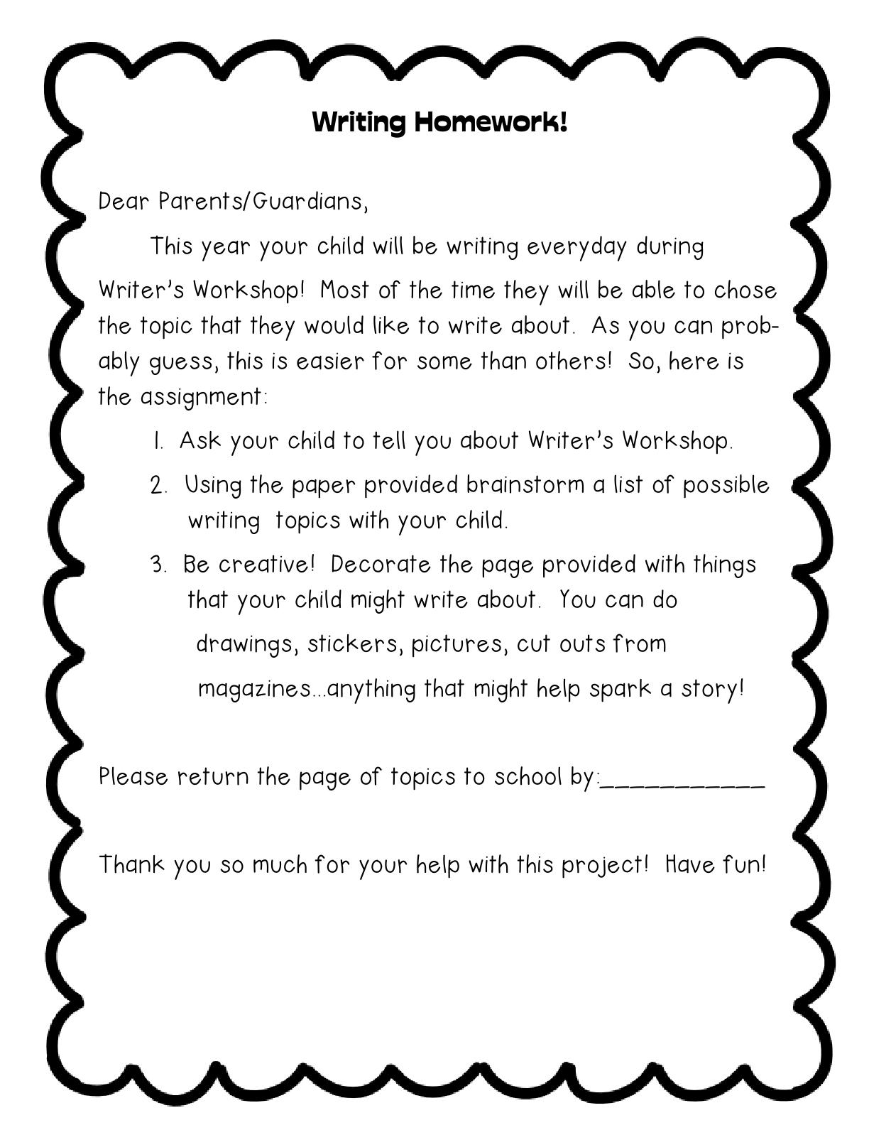 Written homework