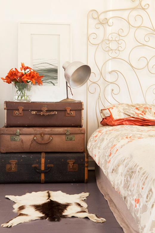 como decorar con maletas